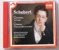 """SCHUBERT . Quintette """"la Truite"""", Quatuor """"la Jeune Fille & La Mort""""  . CD"""