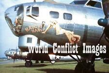 WW2 B-17 Bomber Naughty Nancy #1 8x10 Nose Art Photo 384th BG ETO USAAF