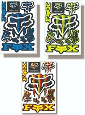 Stickers Fox Racing & Monster for Motorcycles and Bikes - Usa Shipping
