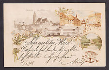 ZAGREB 1898 Sent from B.Dubica to Trebinje Military post handstamp,lithography