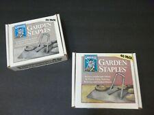 Gardeneer Garden Staples 2 Boxes Secures Landscape Fabric Tarps Hoses Burlap