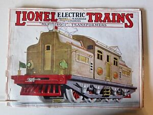1927 LIONEL TRAINS CATALOG - 43 pages All original