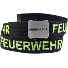Feuerwehr Gürtel 140cm schwarz/gelb mit Flaschenöffner, Feuerwehrgürtel Koppel F