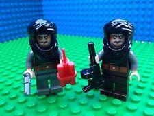 Lego Flesh Tone DESERT FIGHTERS Spy Marvel DC Villains Machine Gun Minifigures