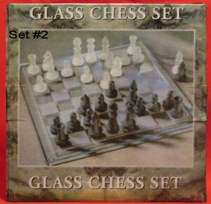 "Glass Chess Set 7-7/8"" Perfect for RV•Tiny•House•Dorm Room•Trailer•Motor Home #2"