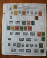 M22 Lot of Canada Stamps on 7 Minkus Album binder Pages