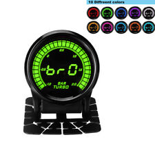 Universal Digital 52mm Car Boost Gauge Turbo Pressure Meter 10Color LED -1~2 BAR