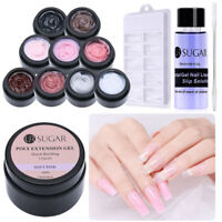 UR SUGAR Quick Extension Poly Builder UV LED Gel Polish Slip Solution 10 Colors