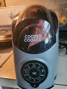 Silver Cooper Cooler HC01-A Rapid Beverage & Wine Chiller or soda can
