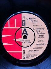 """Adam Faith - What Do You Want 7"""" Vinyl 4 Track EP Rare Demo Copy EMI 2691"""