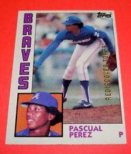 Atlanta Braves PASCUAL PEREZ  2017 Topps Rediscover Buyback GOLD 1984 Topps #675