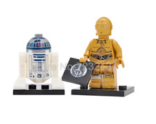 Star wars figure R2D2 and c3p0 robot chain building model bricks kits toys
