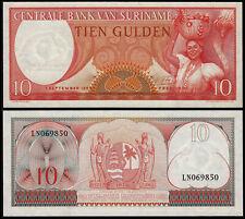 SURINAME 10 GULDEN (P121) 1963 UNC