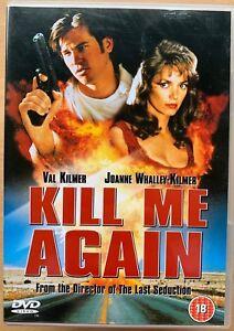 Kill Me Again DVD 1989 Cult Noir Crime Thriller Movie Classic w/ Val Kilmer