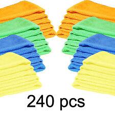 240 pcs Microfiber Mix Colors 12x16 Cleaning Cloths  Auto Car Detailing Towels