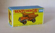 Repro Box Matchbox 1:75 Nr.28 Mack Dump Truck