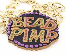 Bead Pimp Mardi Gras Bead Necklace New Orleans Party Bling Flash Pimpin Easy