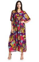 Indian  Cotton Caftan Women Kimono Sleeve Kaftan Cocktail Maxi Long Dresses