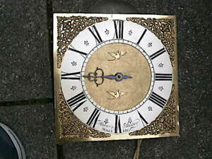 C1740 30 hr  LONGCASE GRANDFATHER CLOCK DIAL+movement 10inch HEN BAKER  OF MALLI