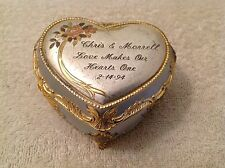 Vintage Heart Shaped Music Box~The Way We Were~Inscribed~Valentines~Free US Ship