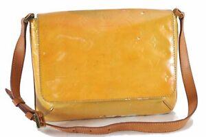 Auth Louis Vuitton Vernis Thompson Street Shoulder Bag Yellow M91008 LV D6833