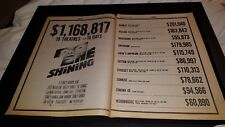 The Shining Rare Original Box Office Promo Poster Ad Framed!