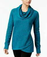 Alfani Ideology Womens Cowl-Neck Pullover, 2X-Large, Neo Teal
