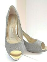 Bandolino Womens SuperModel Gold Dress Pump High Heel Shoes Size 7M Holiday