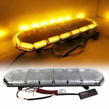 "37"" LED Strobe Lightbar Warning Emergency Beacon Security Signal Roof Amber 216W"