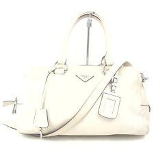 Prada Shoulder Bag  Whites Leather 1602884