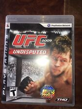 UFC Undisputed 2009 For PlayStation 3 PS3 Wrestling 5E gently used condition