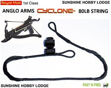 Crossbow String 80lb Pistol Xbow String & End Caps Fits Anglo Arms Cyclone Bow