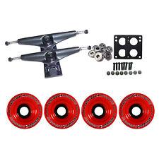 LONGBOARD Trucks/Wheels/Bearings BLACK 6.0 + BIGFOOT 75MM INVADERS RED