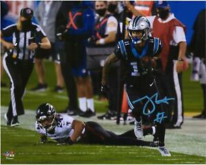 """Robby Anderson Carolina Panthers Signed 8"""" x 10"""" Running vs. Falcons Photo"""