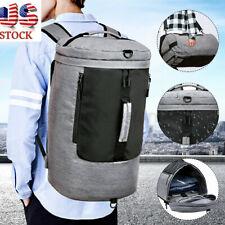 New Men Gym Waterproof School Backpack Shoulder Bag Travel USB Charging Port  US