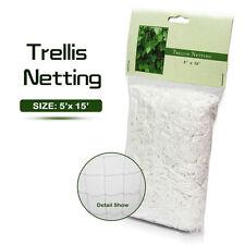 Plant Support 5ft x 15ft Heavy-Duty Soft Mesh Nylon Trellis Netting For Garden