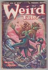 M0207: Weird Tales Pulp, July 1949, Fine Condition; Derleth