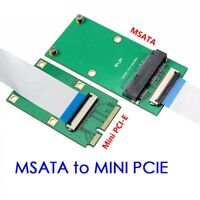 msata SSD to mini pcie interface extension cable for laptop