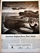 Royal Airforce RAF Fighters Taking Off English Airfield United Airccraft WWII Ad