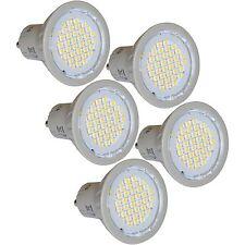 5 LED de ahorro de energía bombillas GU10 3 W 4200K blanco frío reemplaza a 35 W Halógeno