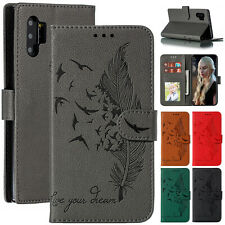 For Samsung Galaxy Note 10 Plus S10 S9+ Note 9 Case Leather Wallet Stand Cover