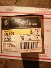BOX of 10 GE THQL1130 Circuit Breakers 30 Amp 1 Pole 120/240 VOLT Free Shipping