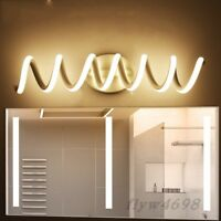 LED Modern Spiral Mirror Light Wall Lamp Bathroom Light Fixture Vanity Lighting