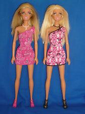 BIONDA 2 Gamba Dritta Bambole Barbie con una spalla abiti, scarpe e collane