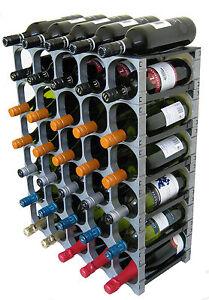 CellarStak 35/36 Bottle Modular Wine Rack - Silver - Free Delivery
