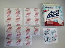 VINTAGE HTF AQUAFRESH AQUA BLAST TOOTHBRUSH CLEANER 15 TABLETS CLEANS BACTERIA