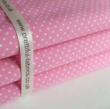 3mm Polka Dot 100% Cotton Fabric, Sewing, Craft, Spots, 20 Colours ROSE & HUBBLE