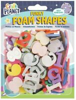 Crafty Foam Number Shapes - Assorted Colours - Card Making - SELF ADHESIVE - UK
