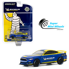 Greenlight 1:64 - 2019 Ford Shelby Gt350R - Michelin Tires (Blue & Yellow)