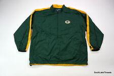 Vintage Men's Starter Green Bay Packers Windbreaker Jacket 1/2 Zip Spellout 2XL